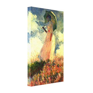 Claude Monet - Woman with sunshade Canvas Print