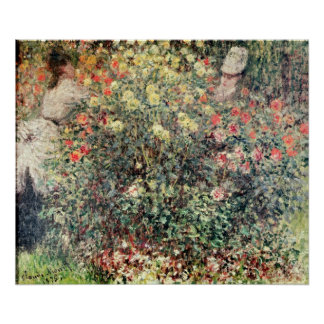 Claude Monet   Women in the Flowers, 1875 Poster