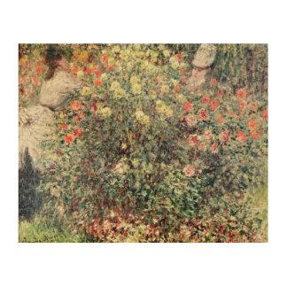 Claude Monet   Women in the Flowers, 1875 Wood Print