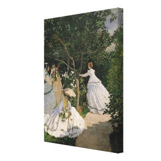 Claude Monet | Women in the Garden, 1866 Canvas Print