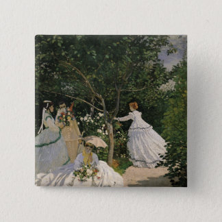 Claude Monet | Women in the Garden, 1866 Pinback Button