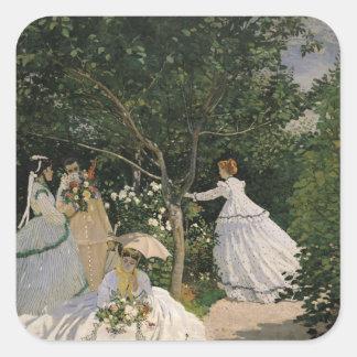 Claude Monet | Women in the Garden, 1866 Square Sticker