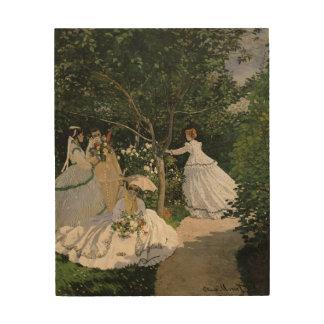 Claude Monet | Women in the Garden, 1866 Wood Wall Art