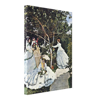 Claude Monet - Women in the Garden Canvas Print