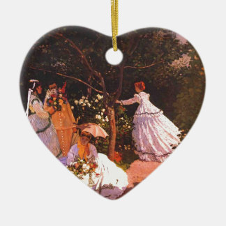 Claude Monet // Women in the Garden Ceramic Ornament