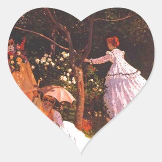 Claude Monet // Women in the Garden Heart Sticker