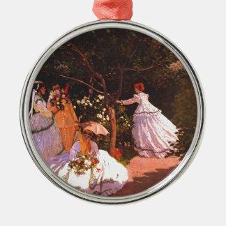 Claude Monet // Women in the Garden Metal Ornament