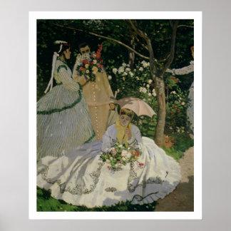 Claude Monet | Women in the Garden Poster