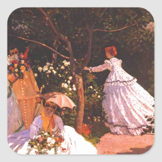 Claude Monet // Women in the Garden Square Sticker