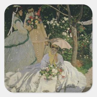 Claude Monet | Women in the Garden Square Sticker