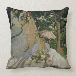 Claude Monet | Women in the Garden Throw Pillow