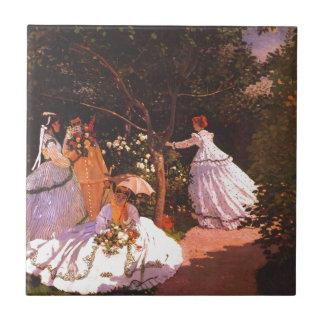 Claude Monet // Women in the Garden Tile