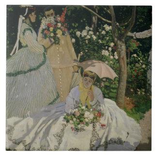 Claude Monet | Women in the Garden Tile