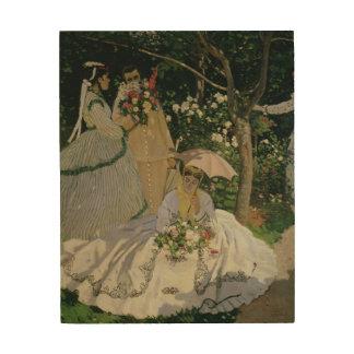 Claude Monet | Women in the Garden Wood Wall Decor