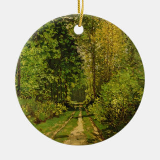 Claude Monet | Wooded Path Ceramic Ornament