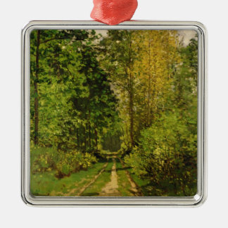 Claude Monet | Wooded Path Metal Ornament