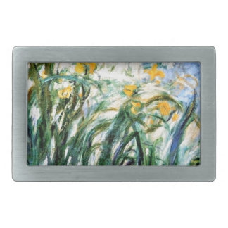 Claude Monet Yellow Irises and Malva 19 Rectangular Belt Buckle