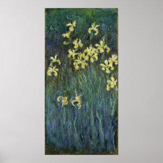 Claude Monet - Yellow Irises Poster