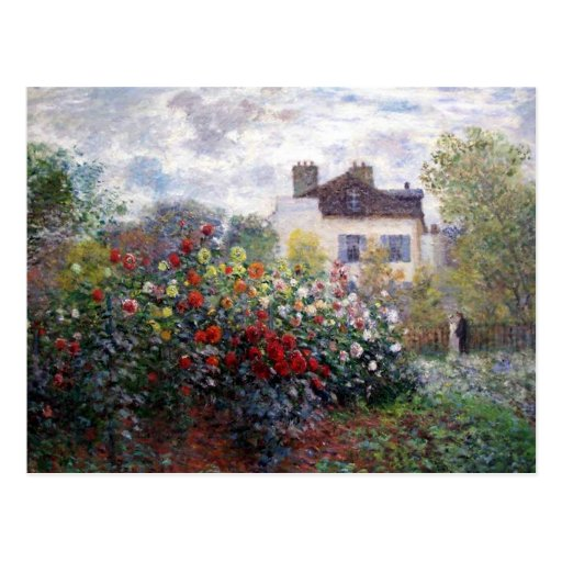Claude Monet's Garden Postcard
