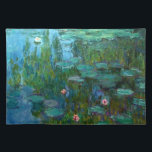 """Claude Monet&#39;s Nymph&#233;as Cloth Placemat<br><div class=""""desc"""">1915,  &quot;Water Lilies&quot; Claude Monet (14 November 1840 – 5 December 1926) was a founder of French impressionist painting,  and the most consistent and prolific practitioner of the movement&#39;s philosophy of expressing one&#39;s perceptions before nature,  especially as applied to plein-air (painting outdoors) landscape painting.</div>"""