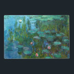 """Claude Monet&#39;s Nymph&#233;as Placemat<br><div class=""""desc"""">1915,  &quot;Water Lilies&quot; Claude Monet (14 November 1840 – 5 December 1926) was a founder of French impressionist painting,  and the most consistent and prolific practitioner of the movement&#39;s philosophy of expressing one&#39;s perceptions before nature,  especially as applied to plein-air (painting outdoors) landscape painting.</div>"""