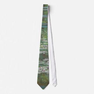 Claude Monet's The Japanese Footbridge Neck Tie