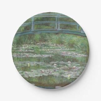 Claude Monet's The Japanese Footbridge Paper Plate