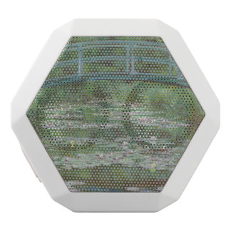 Claude Monet's The Japanese Footbridge White Bluetooth Speaker