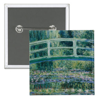 Claude Monet's Water Lilies and Japanese Bridge Buttons