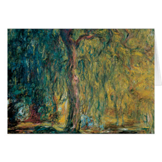 Claude Monet's Weeping Willow Card