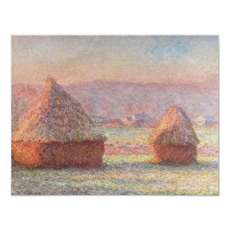 Claude Monet's White Frost Sunrise (1889) Invitation