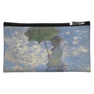 Claude Monet's Woman with a Parasol Cosmetic Bags