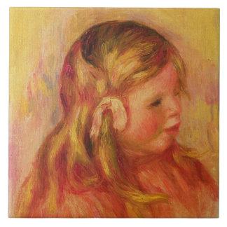 Claude Renoir, 1908 (aceite en lona) Azulejo Cuadrado Grande