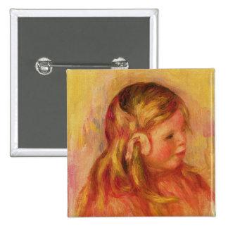 Claude Renoir, 1908 (aceite en lona) Pin Cuadrado