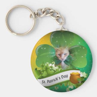 Claude St. Patricks Day Keychain