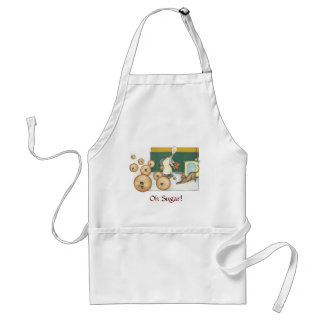 Claude the Baker - bouncing cookies Adult Apron