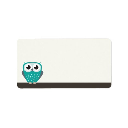 Claude the Little Owl   Blank Address Labels
