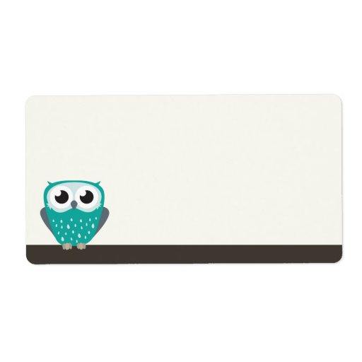 Claude the Little Owl   Blank Shipping Labels