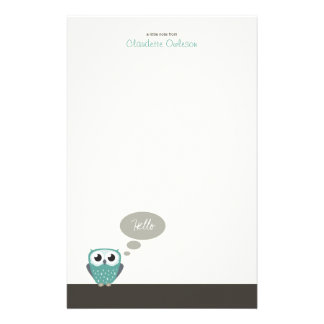 Claude the Little Owl | Cute Note Paper