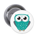 Claude the Little Owl Pin Badge Button