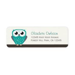 Claude the Little Owl   Return Address Labels