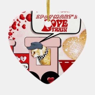 Claude's Love Train Ceramic Ornament