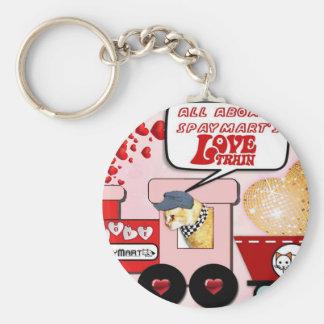 Claude's Love Train Keychain