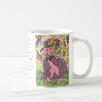 Claudette the Pink Poodle, Enchantress of Red Wine Coffee Mugs