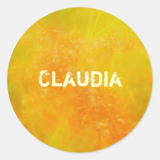 Claudia Classic Round Sticker