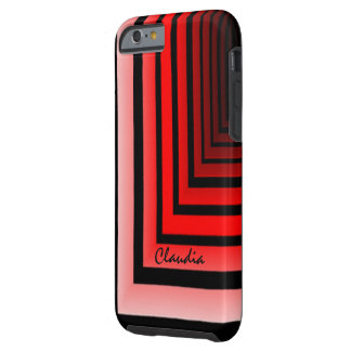 Claudia Customized Red Design iPhone cover Tough iPhone 6 Case