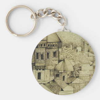 Claudia Ravel Basic Round Button Keychain
