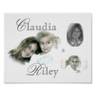 , claudia, &, riley...collage poster
