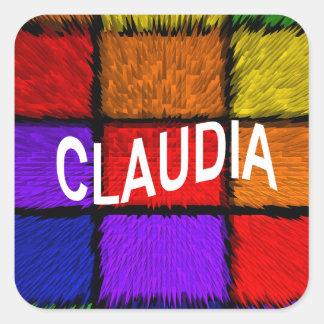 CLAUDIA SQUARE STICKER