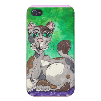 Claudia the Calico Cat Covers For iPhone 4